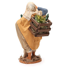 Uomo con verdura 30 cm presepe napoletano s3