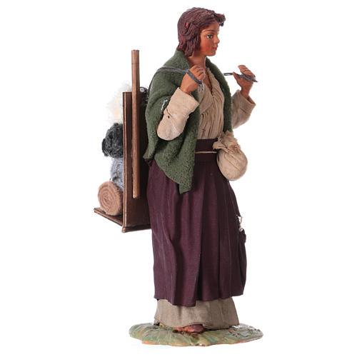 Portatrice di stoffa 24 cm presepe Napoli 4