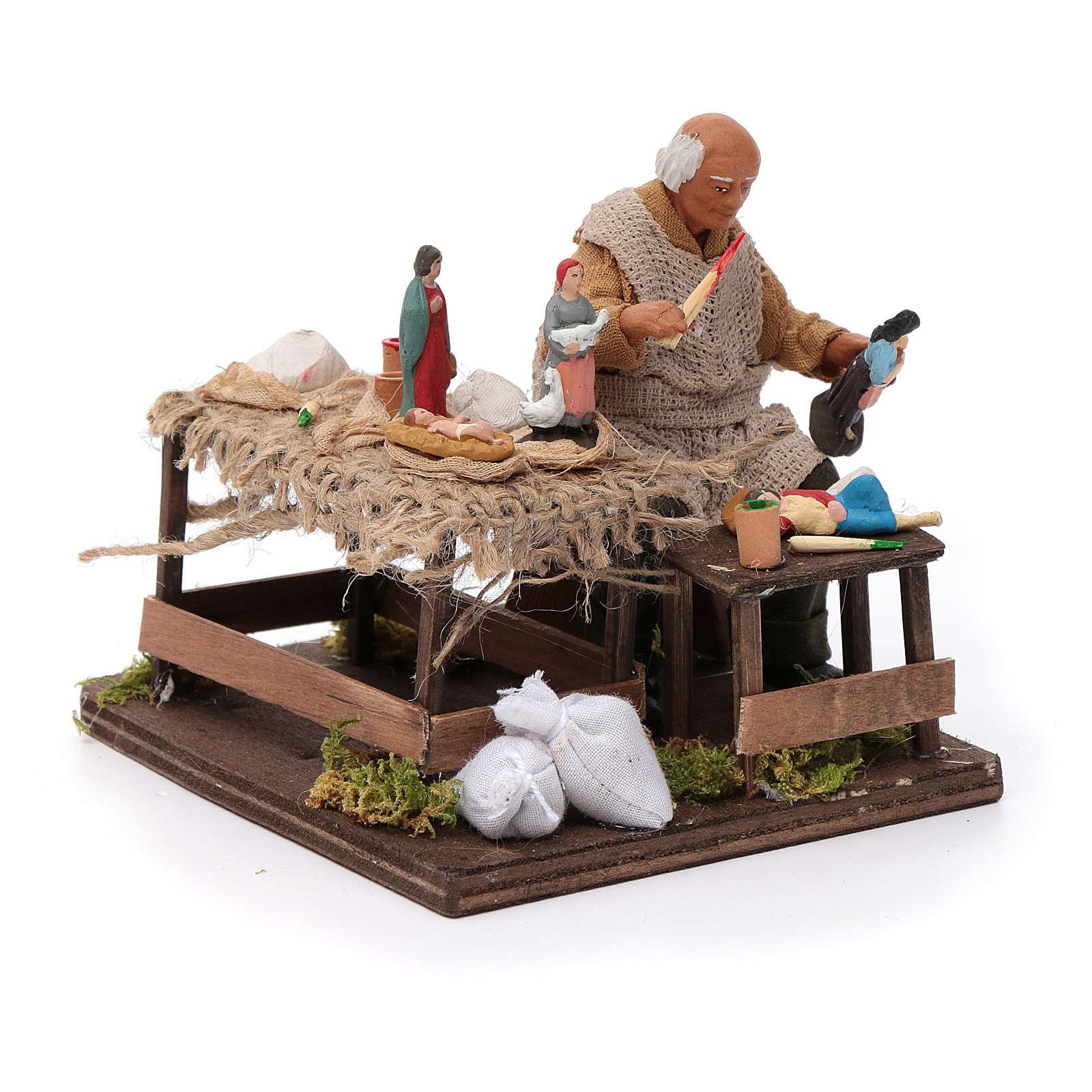 Ceramista con pastori 12 cm presepe napoletano 4