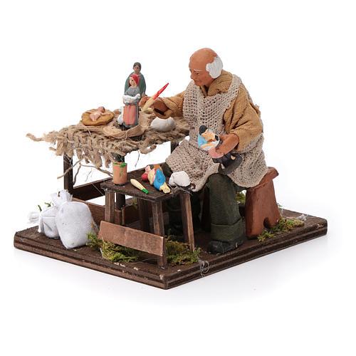 Ceramista con pastori 12 cm presepe napoletano 2