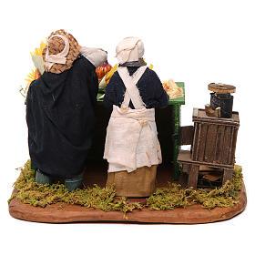 Man making pasta with stall, Neapolitan nativity figurine 12cm s4