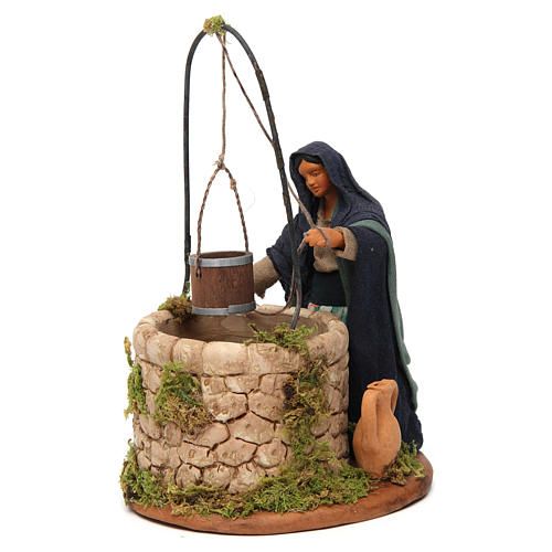 Woman at the well, Neapolitan nativity figurine 12cm 2