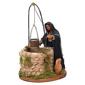 Femme au puits 12 cm crèche napolitaine s2