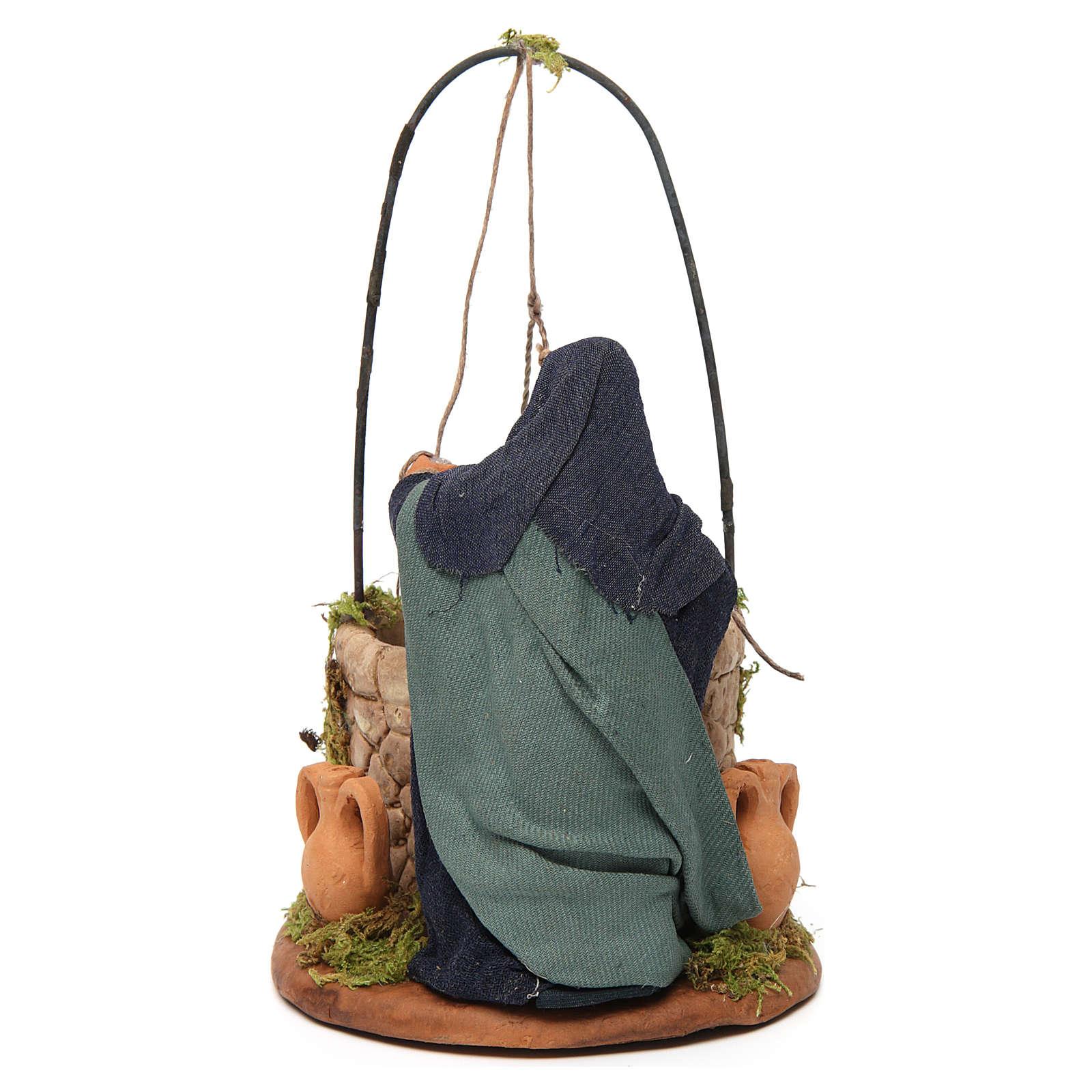 Woman at the well, Neapolitan nativity figurine 12cm 4