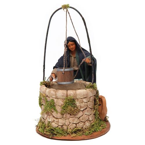 Woman at the well, Neapolitan nativity figurine 12cm 1