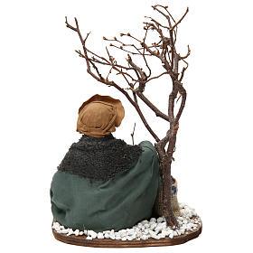 Mercante con sacco di semi e albero 24 cm presepe Napoli s4