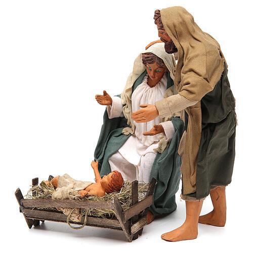 Nativity scene, standing, Neapolitan nativity 24cm 2