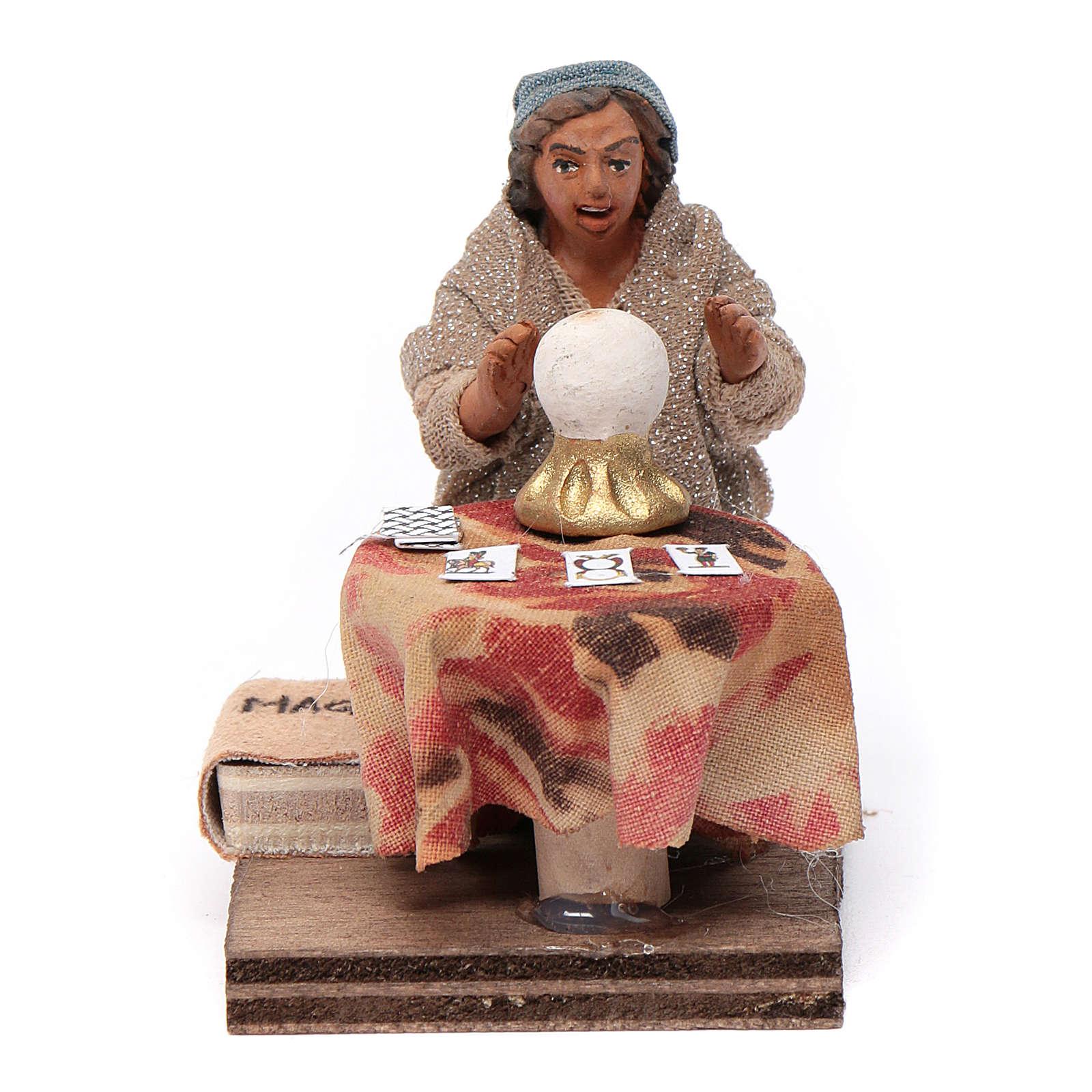Fortune teller, Neapolitan nativity figurine 10cm 4