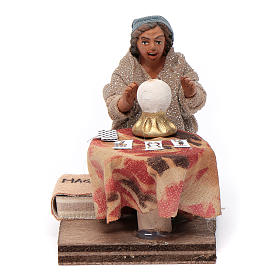 Fortune teller, Neapolitan nativity figurine 10cm s1