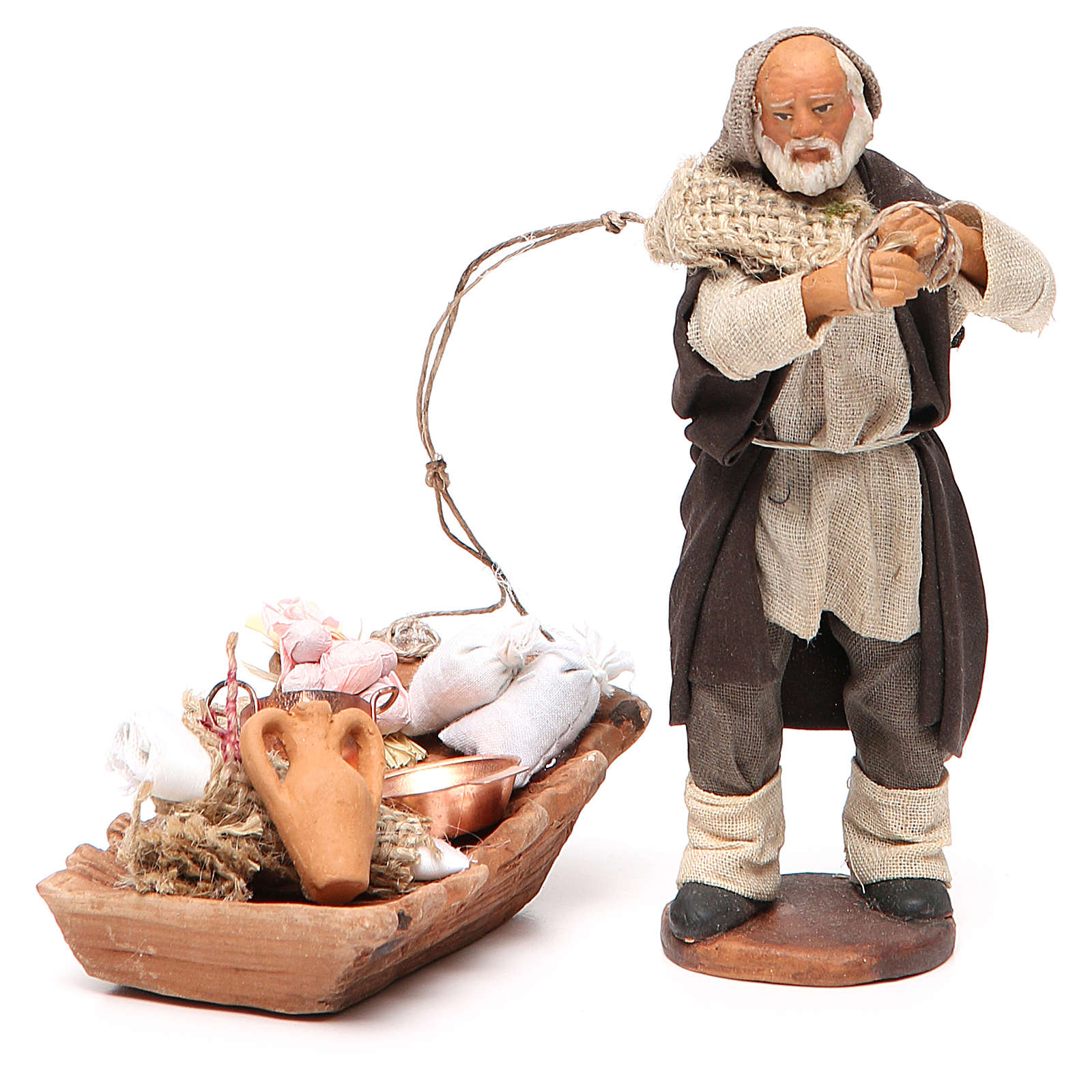 Soap seller, Neapolitan nativity figurine 12cm 4