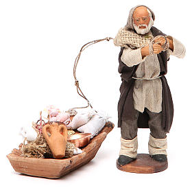 Soap seller, Neapolitan nativity figurine 12cm s1