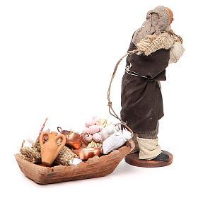 Soap seller, Neapolitan nativity figurine 12cm s2