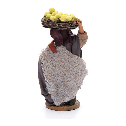 Hombre con cesto de limones 10 cm Belén napolitano 3
