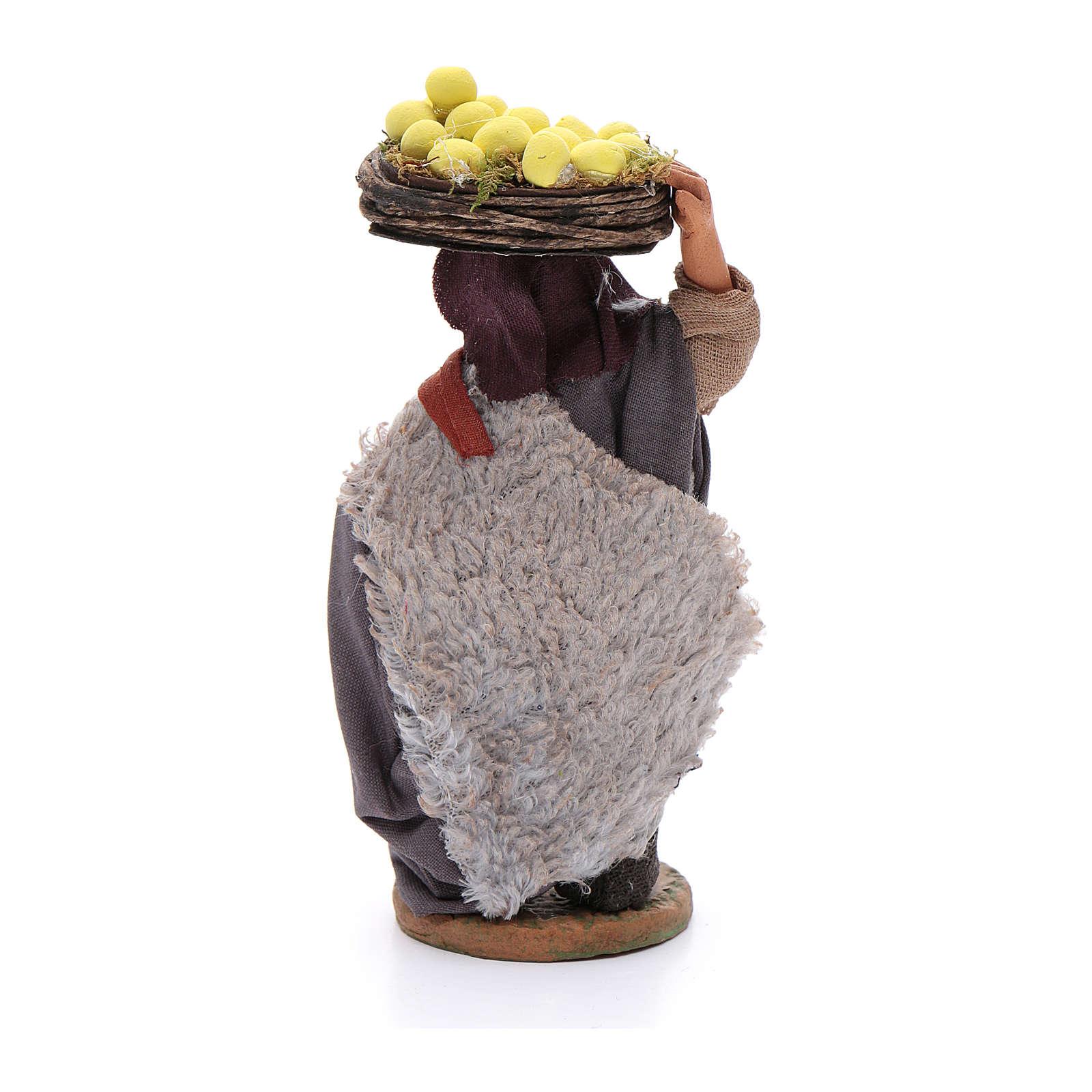 Homme avec paniers de citrons 10 cm crèche napolitaine 4