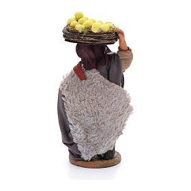 Uomo con cesti di limoni 10 cm presepe napoletano s3
