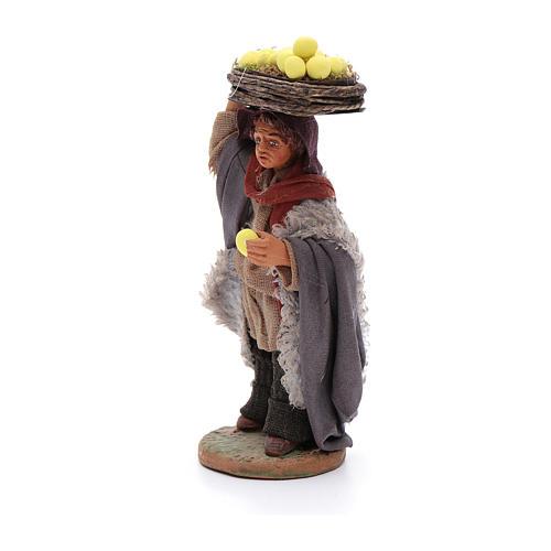 Man with lemon baskets, Neapolitan nativity figurine 10cm 2