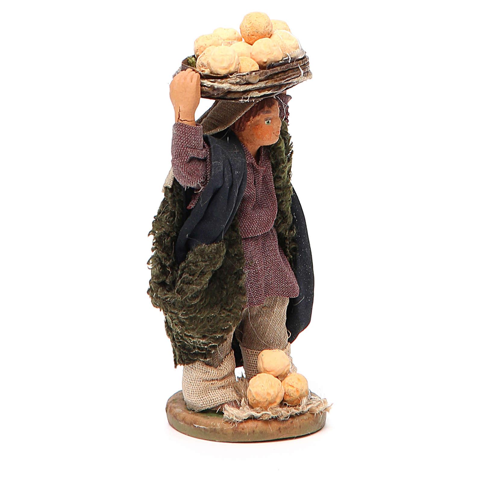 Uomo con arance in testa 10 cm presepe napoletano 4