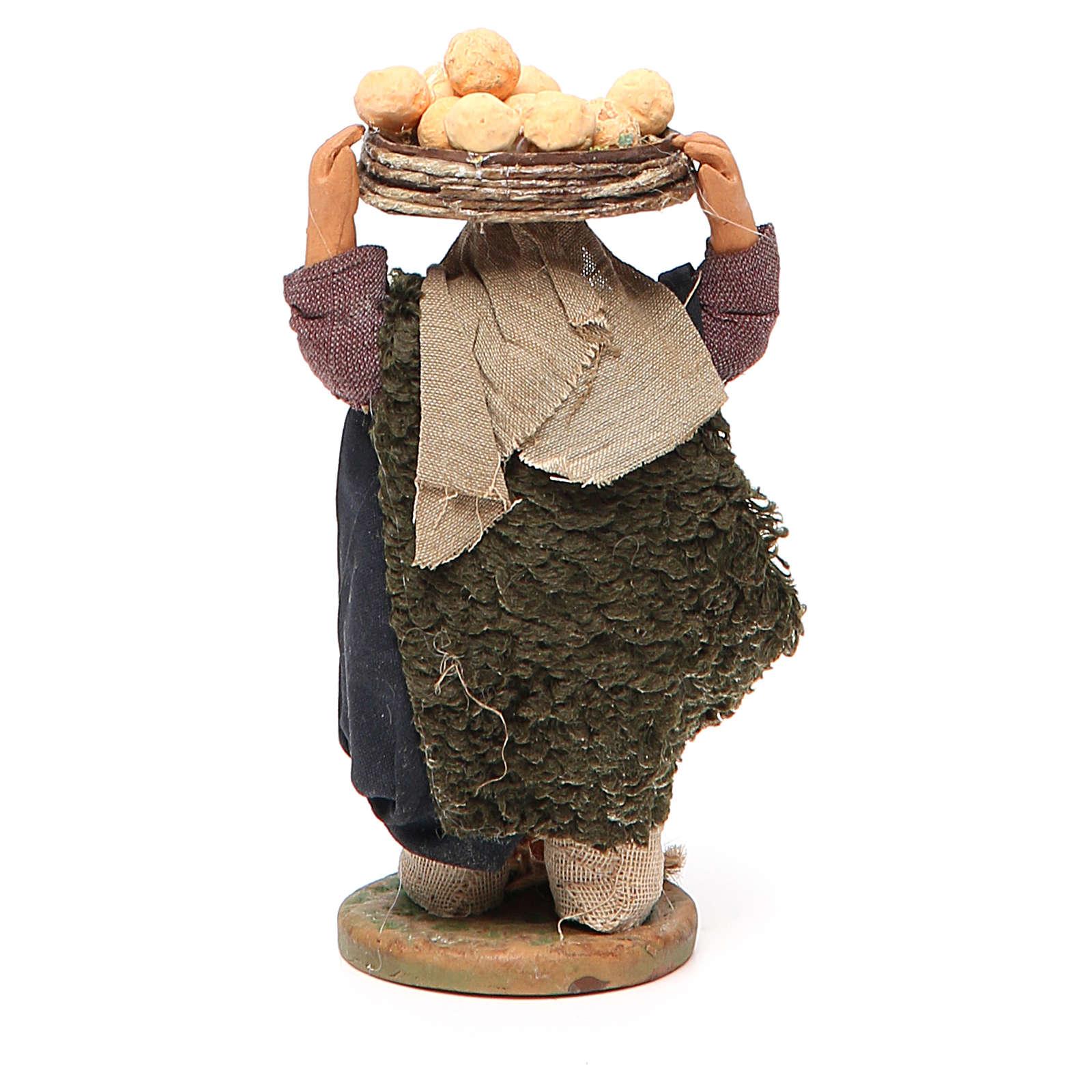 Man with oranges on head, Neapolitan nativity figurine 10cm 4