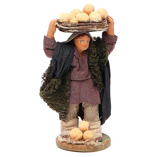 Man with oranges on head, Neapolitan nativity figurine 10cm 1