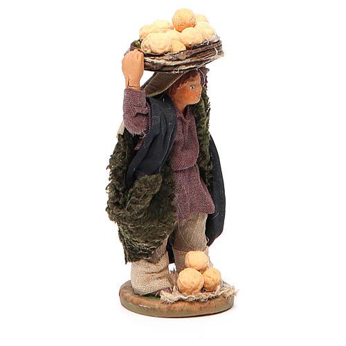 Man with oranges on head, Neapolitan nativity figurine 10cm 2