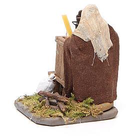 Woman with furnace, Neapolitan nativity figurine 10cm s3