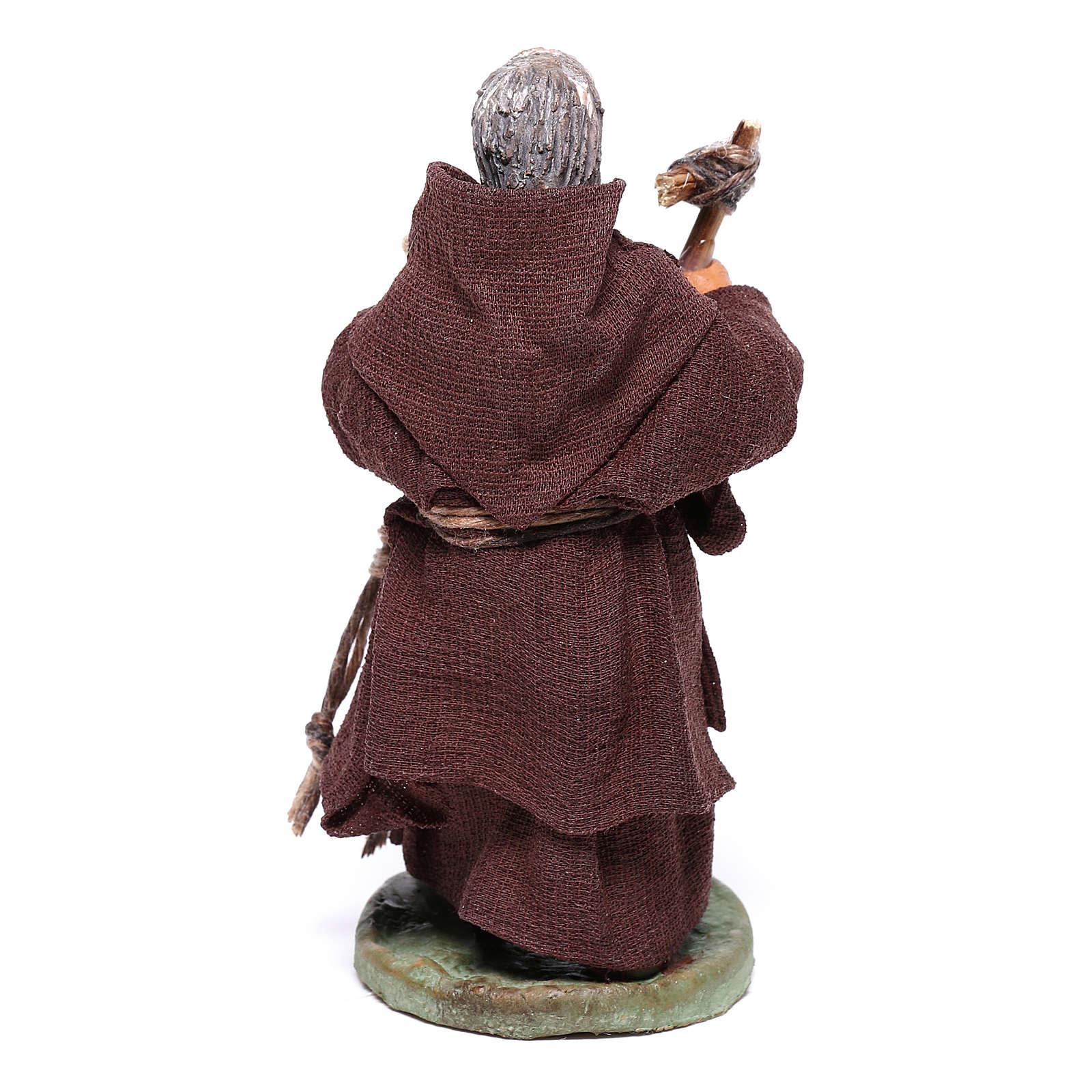 Friar, Neapolitan nativity figurine 10cm 4