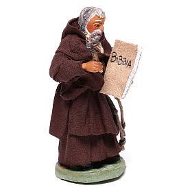 Friar, Neapolitan nativity figurine 10cm s4