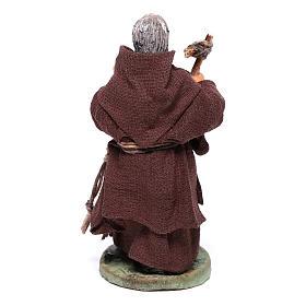 Friar, Neapolitan nativity figurine 10cm s5
