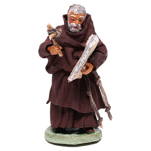 Friar, Neapolitan nativity figurine 10cm 1
