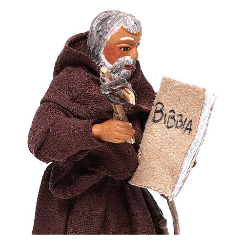Friar, Neapolitan nativity figurine 10cm 2