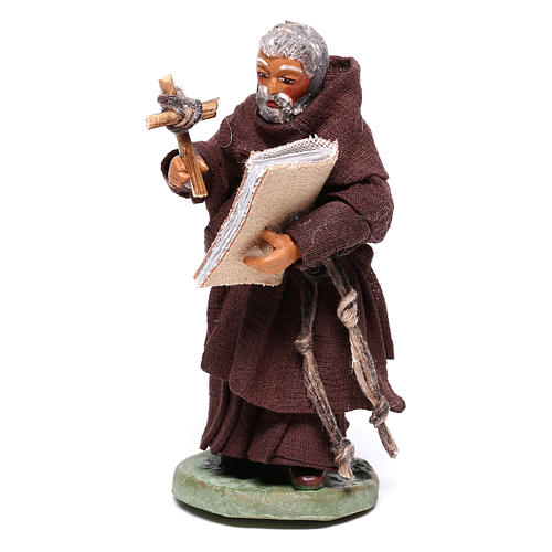 Friar, Neapolitan nativity figurine 10cm 3