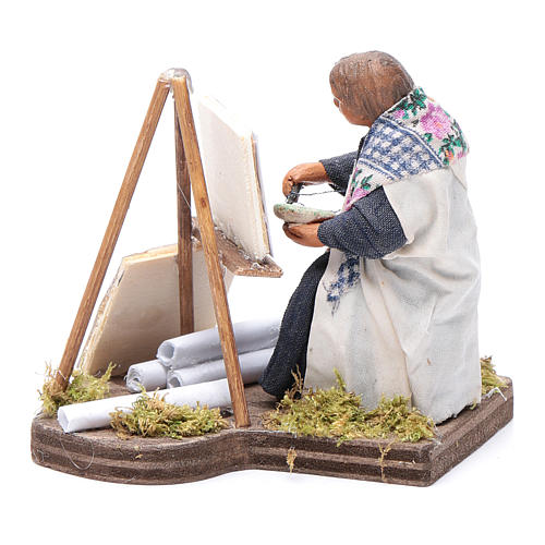 Woman painting, Neapolitan nativity figurine 10cm 2