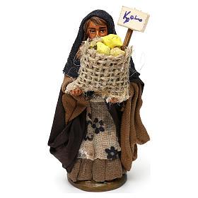 Crèche Napolitaine: Femme panier de citrons 10 cm crèche Naples