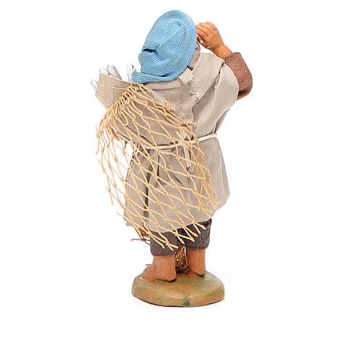 Pescatore con cuoppo di alici 10 cm presepe napoletano 3