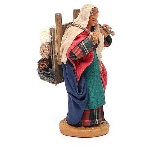 Woman carrying fabric, Neapolitan nativity figurine 10cm 2