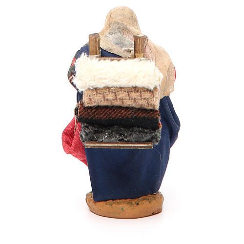 Woman carrying fabric, Neapolitan nativity figurine 10cm 3