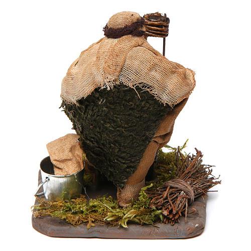 Arrotino con banco di legno 10 cm presepe Napoli 4