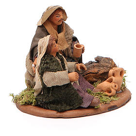 Scene of mercy, Neapolitan nativity figurine 10cm s4