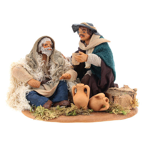 Scene of mercy, Neapolitan nativity figurine 10cm 5