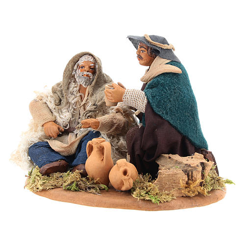 Scene of mercy, Neapolitan nativity figurine 10cm 6