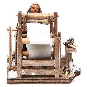Man with loom, Neapolitan nativity figurine 10cm s1