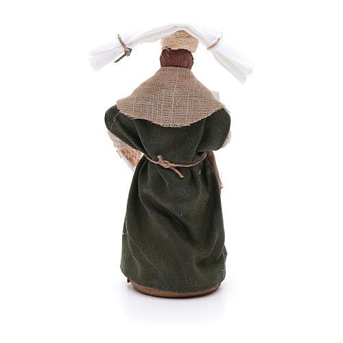 Donna con fazzoletti 10 cm presepe napoletano 3