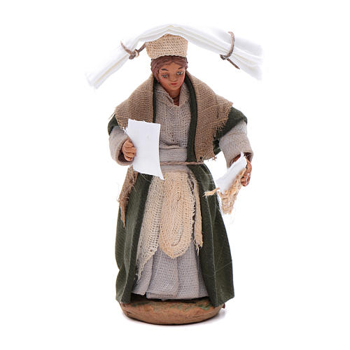 Woman with handkerchiefs, Neapolitan nativity figurine 10cm 1
