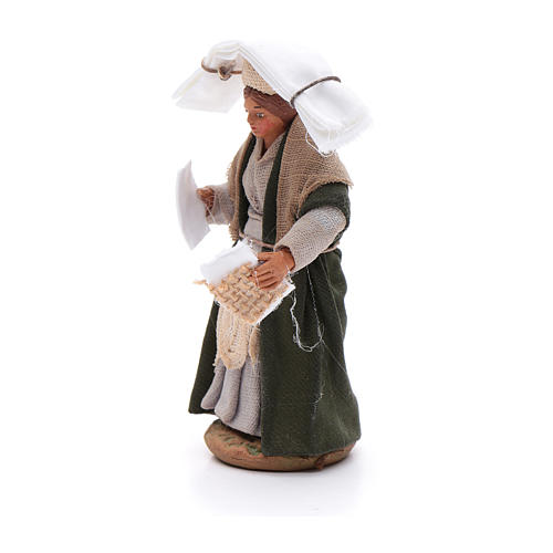 Woman with handkerchiefs, Neapolitan nativity figurine 10cm 2