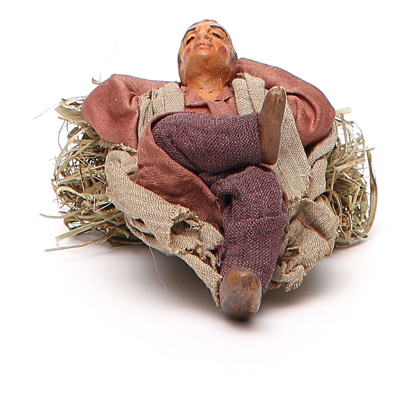 Dormeur allongé 10 cm crèche Naples 4