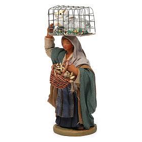 Mujer con jaula y cesta 10 cm belén napolitano s2