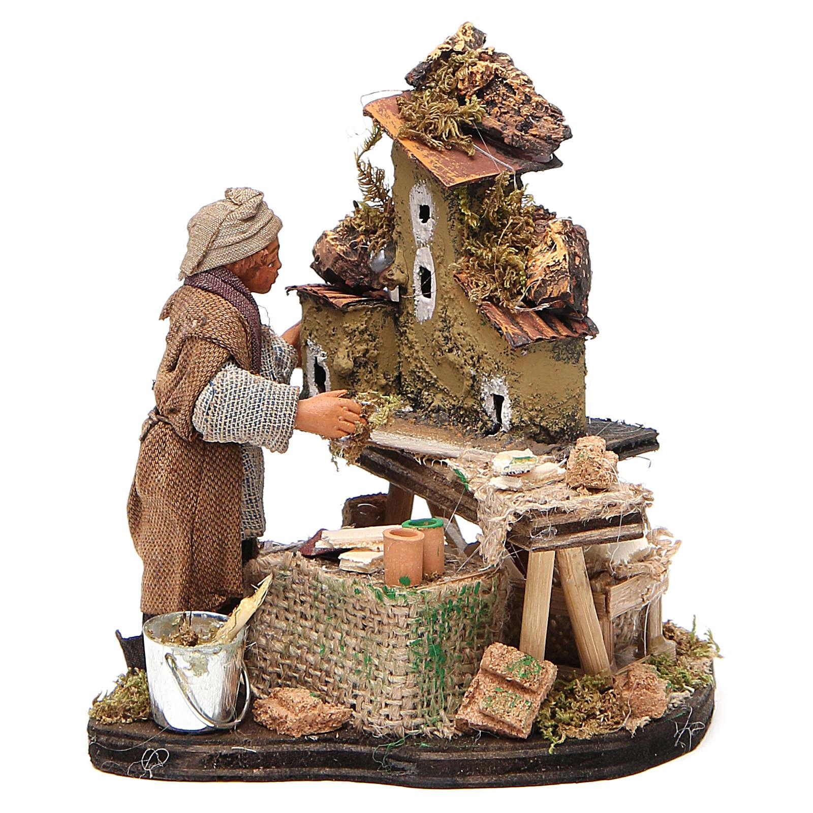 Nativity scene artist, Neapolitan nativity figurine 10cm 4