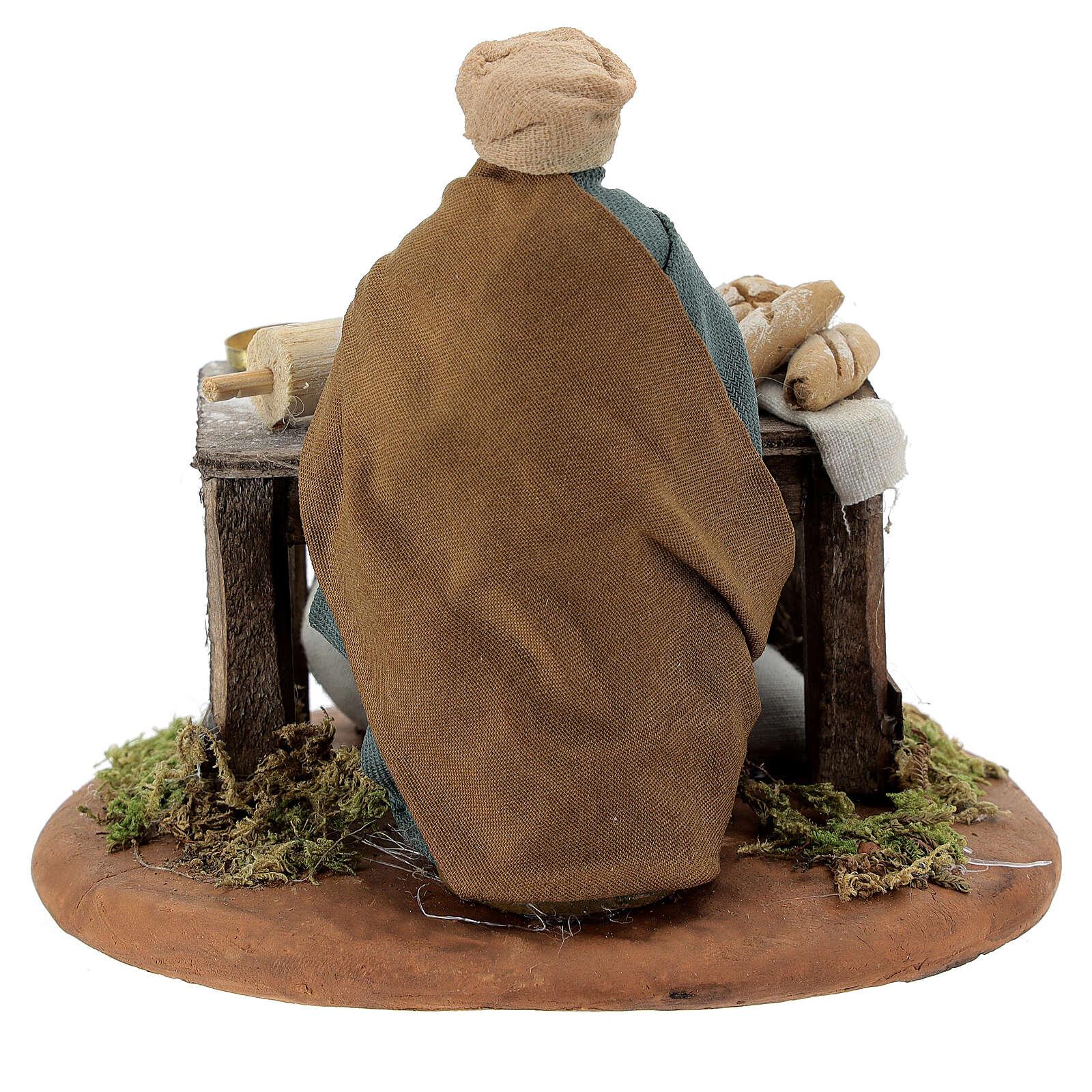 Woman kneading, Neapolitan nativity figurine 10cm 4