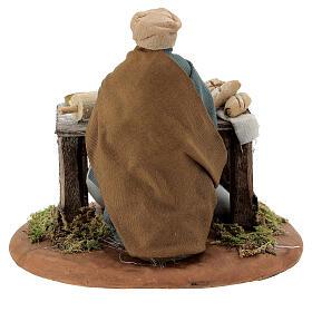 Woman kneading, Neapolitan nativity figurine 10cm s4
