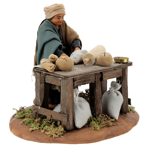 Woman kneading, Neapolitan nativity figurine 10cm 3